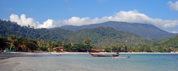 Playa-de-Koh-Phangan en el Noreste de la isla