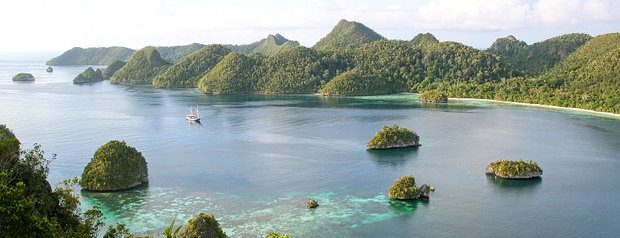 Las aguas de Papua Occidental