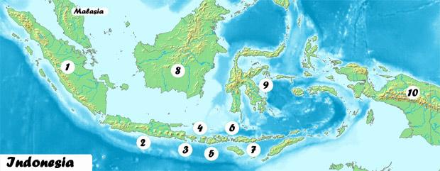 las 9 islas mas importantes de Indonesia