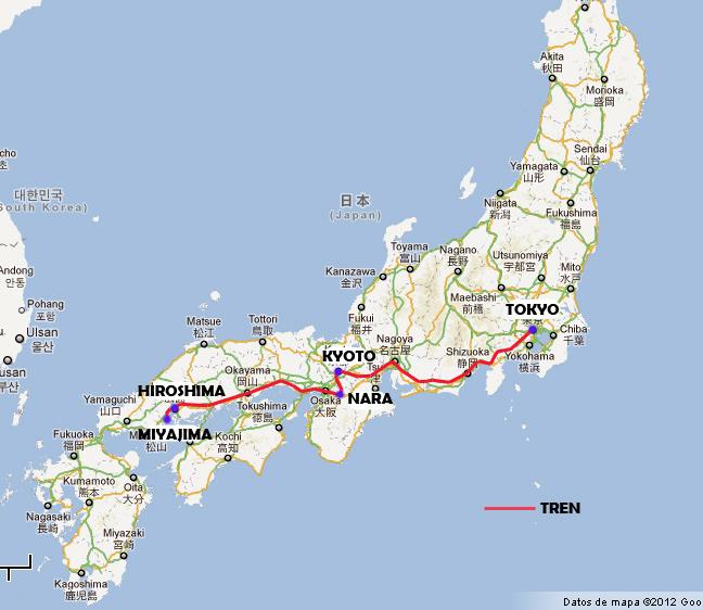 Mapa De Japon Ciudades.Mapa Mapa Japon Ciudades