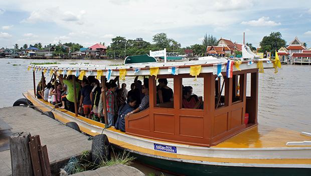 Barco hacia Koh Kred