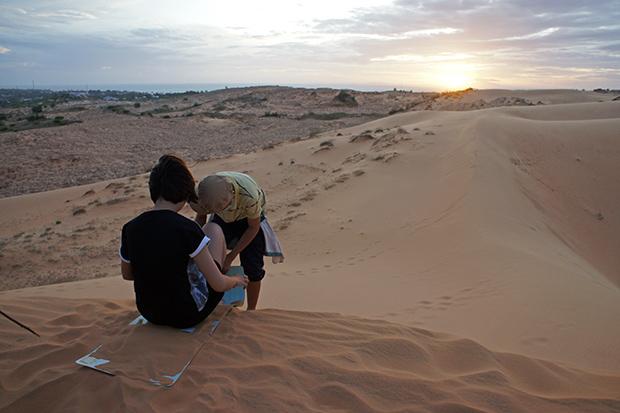 Bajando-por-las-dunas