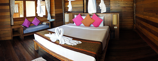 Habitación-enfrente-del-mar-del-Thanya-Beach-Resort