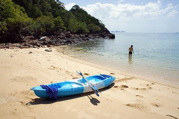 Kayak-en-Paradise-Beach