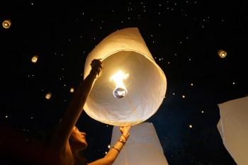 El Yee Peng de Chiang Mai, la fiesta de las linternas volantes