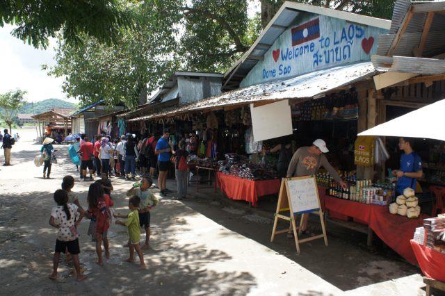 Mercado Triángulo del Oro Laos