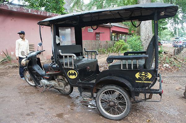 Tuk Tuk de Batman en Angkor Wat