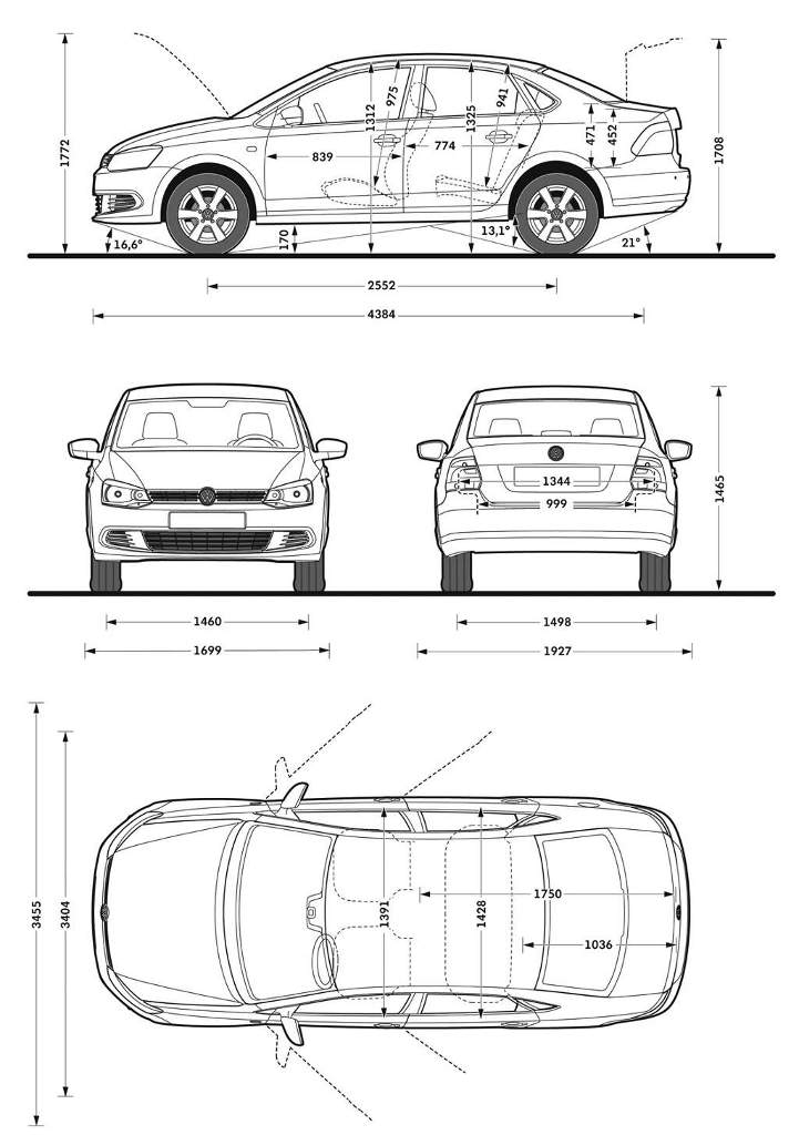 vw-polo-sedan-dimensiones — Mundoautomotor