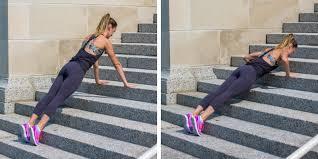 Flexão na escada