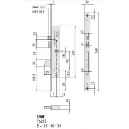 Cerradura eléctrica cisa de embutir con cilindro y palanca