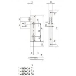 Cerradura o cierre cisa para puertas de hierro, aluminio o