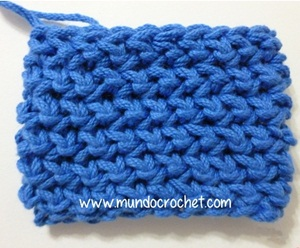 Punto media vareta inclinado o en espiga -herringbone double crochet
