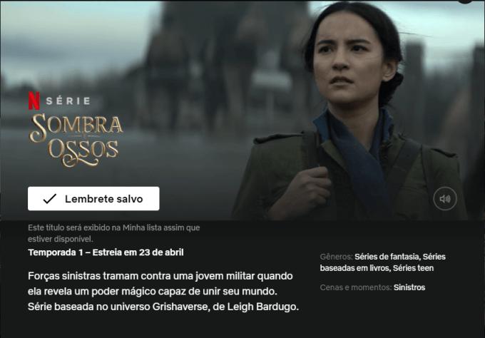 SOMBRA E OSSOS NETFLIX