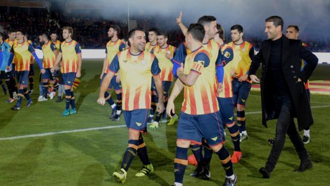 La selección catalana, en su último enfrentamiento ante Túnez