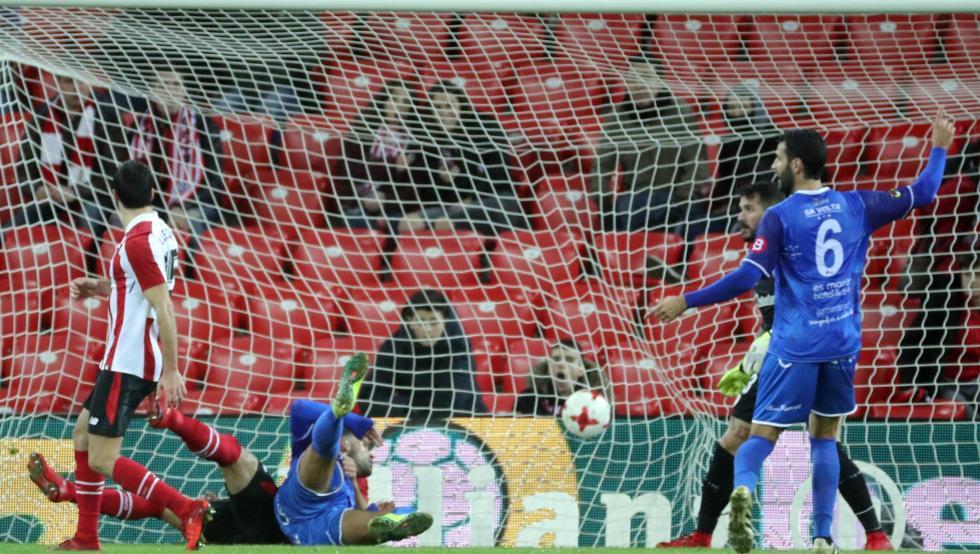 El Formentera ha tumbado al Athletic en la Copa con este gol en el descuento