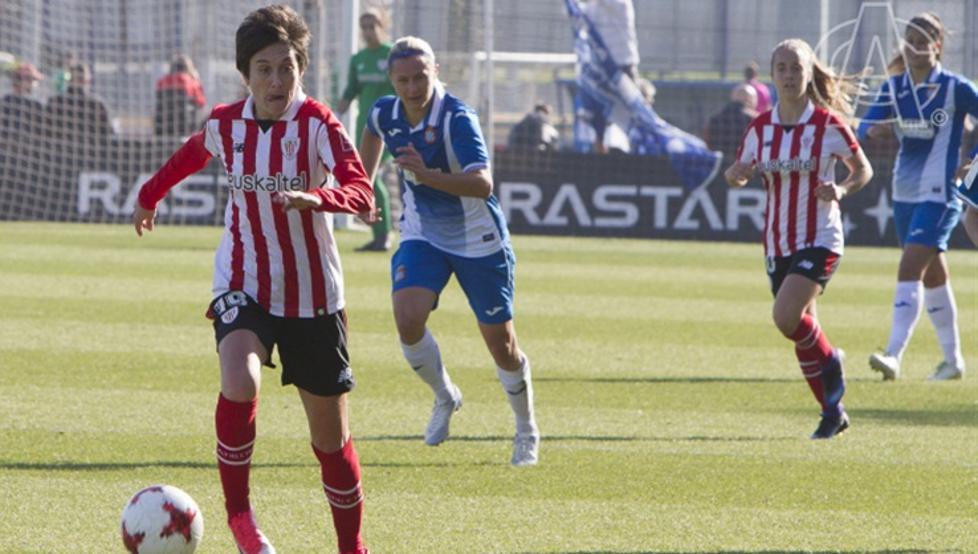 Erika, en la imagen en la victoria ante el Espanyol, es un valor seguro del Athletic
