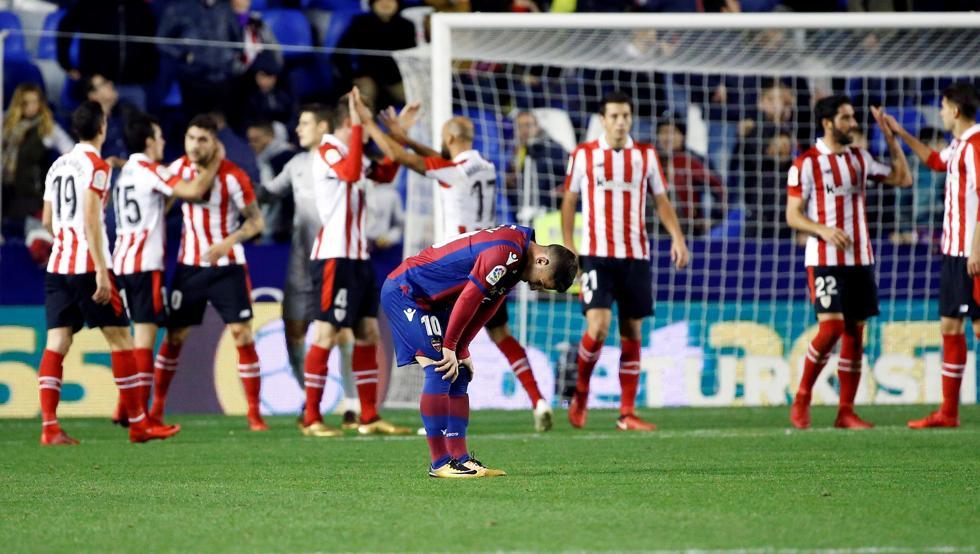 El Athletic logró un victoria vital ayer contra el Levante