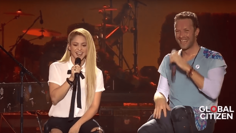 Image result for chris martin and shakira