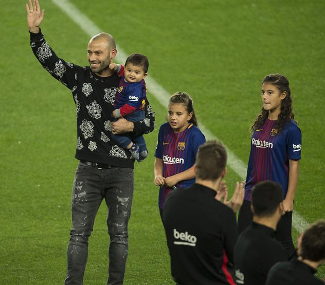 Despedida de Javier Mascherano .