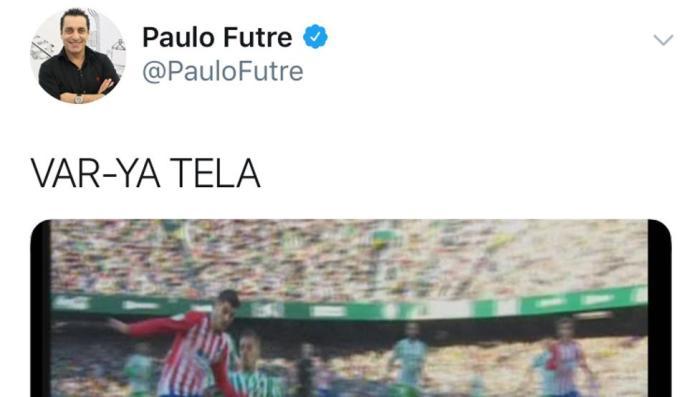 """Futre la lía en Twitter: """"atiza"""" y con razón el arbitraje sufrido 2"""