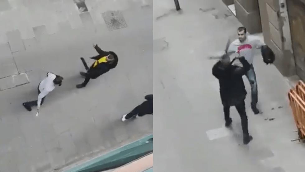Resultat d'imatges de pelea en el raval