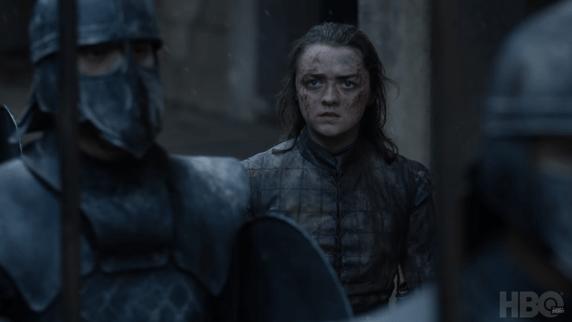 Arya Stark, rodeada de Inmaculados (HBO)