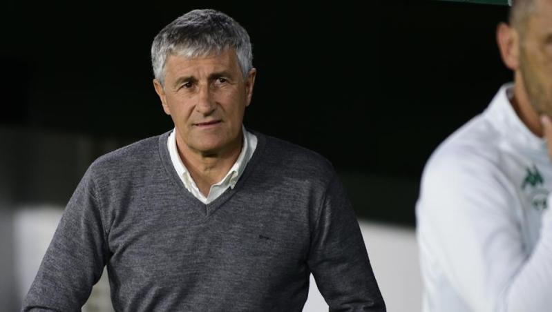 Quique Setién, en su etapa como entrenador del Real Betis Balompié