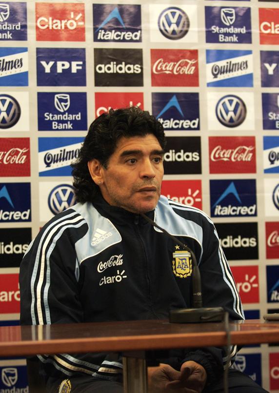 Diego Armando Maradona en su etapa como seleccionador de Argentina