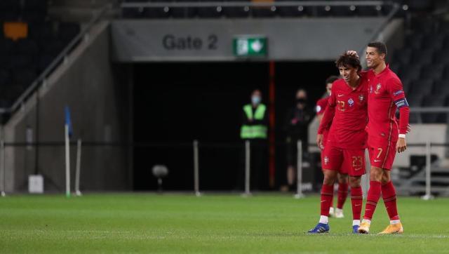 La asistencia de Joao Félix a Cristiano para su gol 101