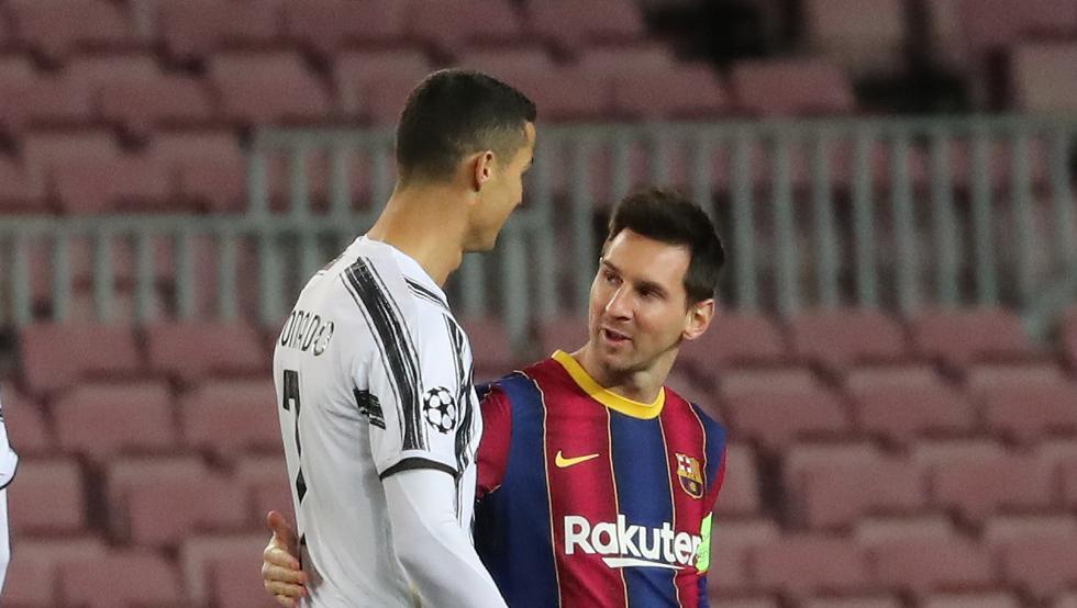 Messi y Cristiano, en un partido de esta temporada entre Barça y Juventus