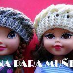 Boina a Crochet para Muñecas