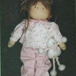 Muñeca de trapo Marina en pijama