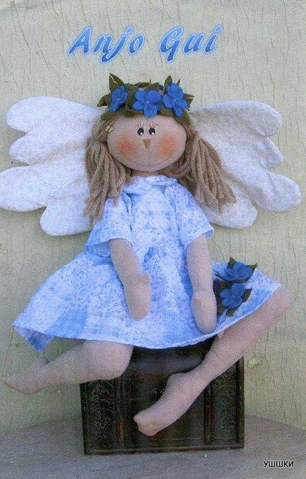 Muñeca de tela dulce Ángel