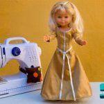 Vestido de época para muñeca Nancy