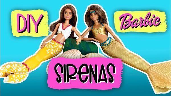 DIY cola de Sirena para tu muñeca Barbie