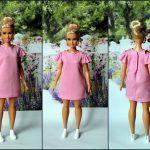 Vestido hombros descubiertos para Barbie