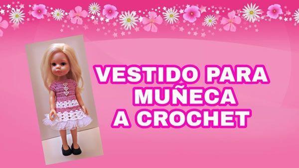 Vestido de muñeca a crochet