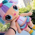 Muñeca unicornio Lol Surprise en amigurumi