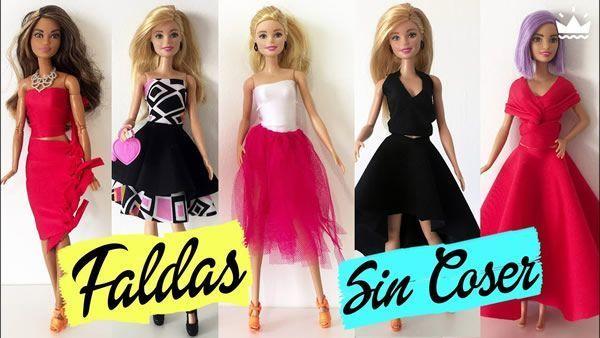 DIY Faldas para Barbie sin coser