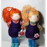 Muñeca de tela pelirroja con moldes gratis