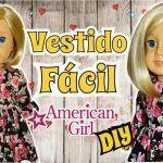 Vestido con Volado American Girl con moldes