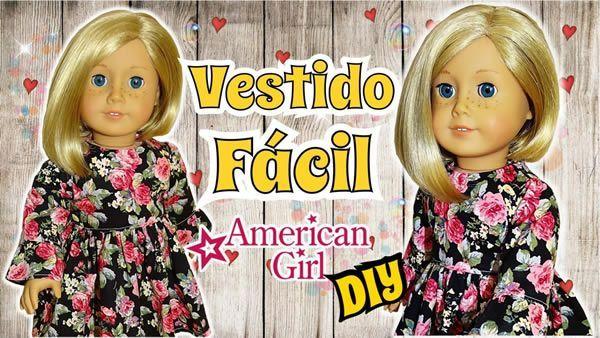 Vestido con Volado American Girl