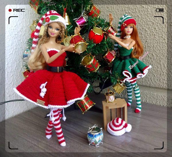 Vestido de muñeca barbie para Navidad