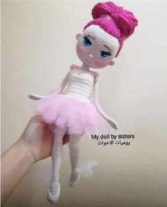 Muñeca amigurumi bailarina