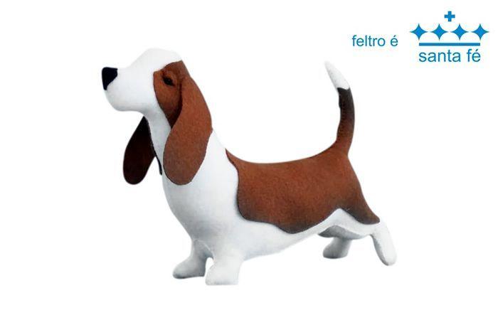 Perro Cachorrito Basset salchicha en fieltro