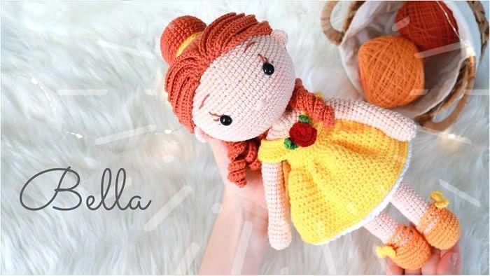 Muñeca princesa Bella Amigurumi paso a paso