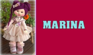 Muñeca de tela Marina patrón y tutorial