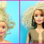 DIY Rizar el pelo a Barbie y cambio de look