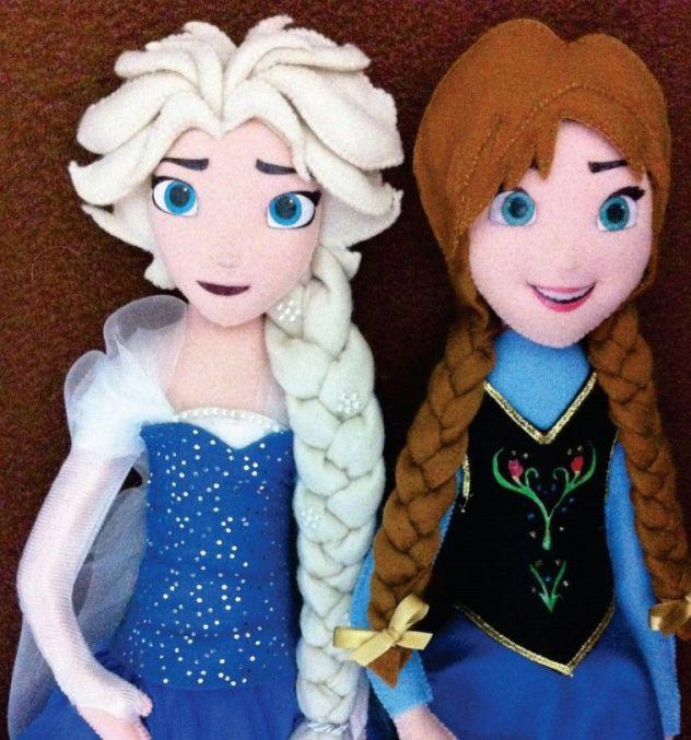 Muñecas Princesas Elsa y Anna
