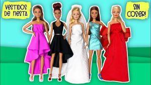 Vestidos de fiesta sin coser para tu muñeca Barbie